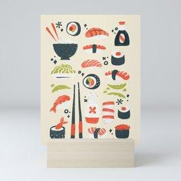 Sushi Dreams – Cream Mini Art Print