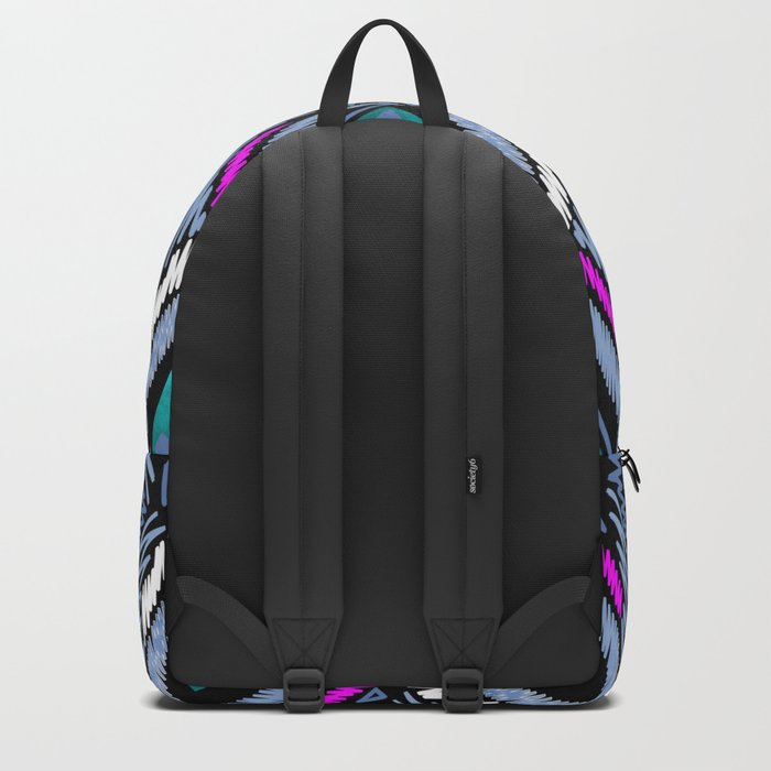 Colorful ethnic ornament . Backpack