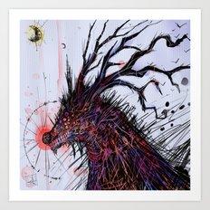 Nariz roja Art Print