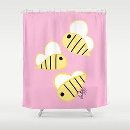 Buzz Buzz Bees Shower Curtain