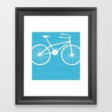 Blue Bike by Friztin Framed Art Print