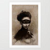 Dark Victorian Portrait Series: Mother Hecate Version 2 Art Print