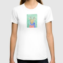 Deer with scarf T-shirt