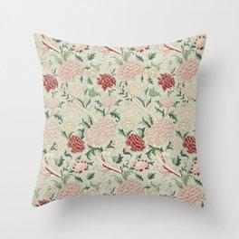 William Morris Cray Floral Pre-Raphaelite Vintage Art Nouveau Pattern Throw Pillow
