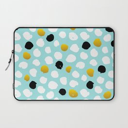 pois noirs blancs or Laptop Sleeve