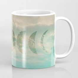 Soft Emerald Beige Clouds Moon Phases #1 #decor #art #society6 Coffee Mug