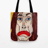 iggy Tote Bags featuring Iggy Pop by Sasquatch