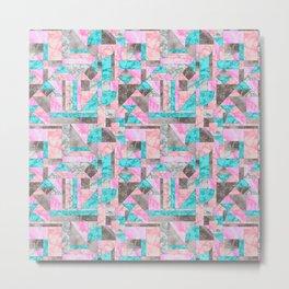 Marble abstract geo 002 Metal Print