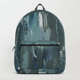 Blue and Green Abstract Acrylic Painting 2 of 2 Backpack