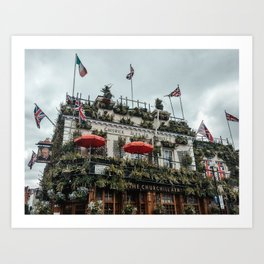 churchill arms pub Art Print