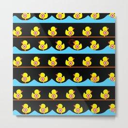 Rubber Duckies Target Game Metal Print