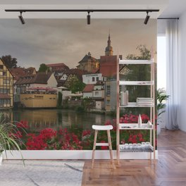 Bavaria Germany Bamberg Houses Cities Building Wall Mural