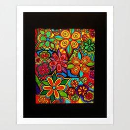 Colorful Arrangement by Anthony Davais Art Print
