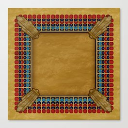 Egyptian Revival / Art Deco Pattern Canvas Print