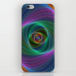 Psychedelic Spiral Stripes iPhone Skin