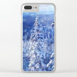 Blue Land II Clear iPhone Case