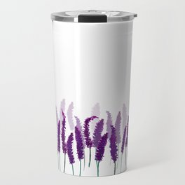 Lavender Field | Purple Flowers in Watercolor Travel Mug