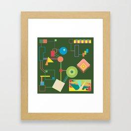Green Jumble Framed Art Print