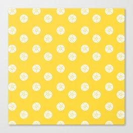 Sea Treasures Pattern Bright Yellow Canvas Print