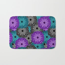 Dahlia Multicolored Floral Abstract Pattern Bath Mat