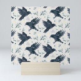Odin's Ravens Pattern Print Mini Art Print
