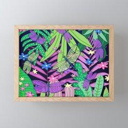 Dragonfly Jungle Framed Mini Art Print