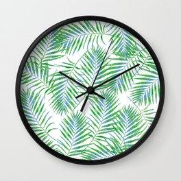 Fern Leaves Wall Clock