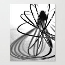 Abstract Kitchen Whisk BW Canvas Print