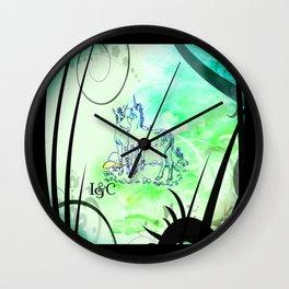 Unicorn Gemini: Blue Wall Clock