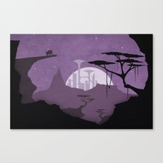 Abandoned city Canvas Print