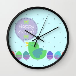 Happy Easter! Wall Clock