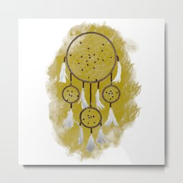 Classic Dreamcatcher: Sand background Metal Print