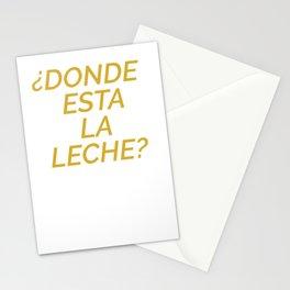 Donde Esta La Leche Pullover Hoodie Stationery Cards