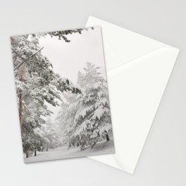"""""""Snow pines"""". At the mountains Stationery Cards"""