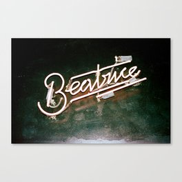 Beatrice in Neon Canvas Print