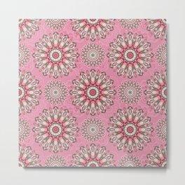 Mandala 189 (Floral) Metal Print