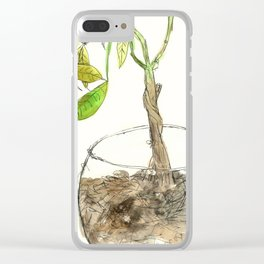 Money Plant Clear iPhone Case