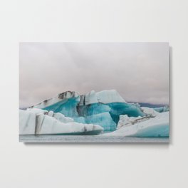 Iceberg in the glacial lagoon in Iceland - landscape photography Metal Print
