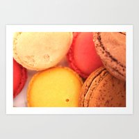 macaroons Art Prints featuring Macaroons by alexarayy