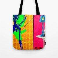 coke Tote Bags featuring Coke by Alec Goss