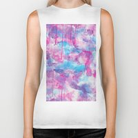 water colour Biker Tanks featuring Water Colour Pattern by Andrea Raths
