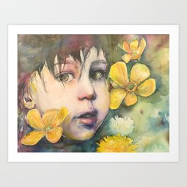 Suppose she's some kind of wildflower Art Print