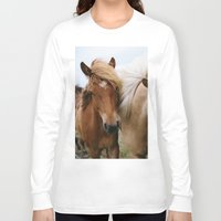 iceland Long Sleeve T-shirts featuring Iceland Horses by LUKE/MALLORY