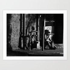 Homeless in Salem Art Print