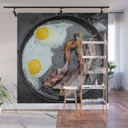 Bacon and Eggs Wall Mural
