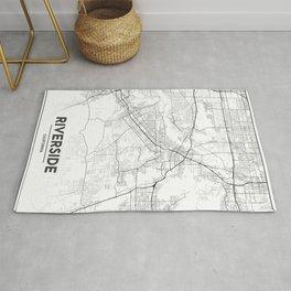 Minimal City Maps - Map Of Riverside, California, United States Rug