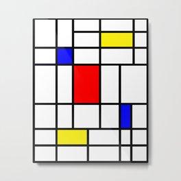 Mondrian #63 Metal Print