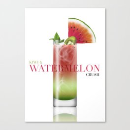 Kiwi and Watermelon crush Canvas Print