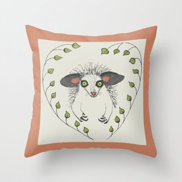 Aye-Aye Portrait Throw Pillow