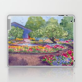 Prescott Park Portsmouth NH Watercolor Laptop & iPad Skin